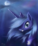 2012 absurd_res ajvl armor blue_eyes blue_hair cloud crown equine female feral friendship_is_magic hair hi_res horn mammal moon my_little_pony outside princess_luna_(mlp) solo star tiara unicorn
