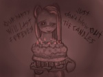 2012 bad_idea cake dynamite english_text equine explosives female food friendship_is_magic horse imminent_death insane looking_at_viewer mammal monochrome my_little_pony pinkamena_(mlp) pinkie_pie_(mlp) plain_background pony solo text ulyanovetz   Rating: Questionable  Score: 5  User: Falord  Date: August 18, 2012