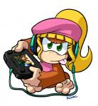 5_toes barefoot blonde_hair brown_fur clothing controller dixie_kong donkey_kong_(series) female fur green_eyes hair hat headphones long_hair mammal monkey nintendo plain_background ponytail primate rongs1234 signature sitting soles solo toes tongue tongue_out video_games wii_u   Rating: Safe  Score: 2  User: Cαnε751  Date: March 28, 2015