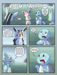 comic female male mightyena nintendo pokémon pokémon_(species) pokémon_mystery_dungeon racingwolf_(artist) scyther skitty squirtle video_games
