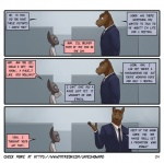 clothing comic duo equine feline james_howard male mammal max office suit  Rating: Safe Score: 13 User: onilink0 Date: October 10, 2015