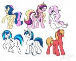 big_macintosh_(mlp) bonbon_(mlp) butt c4tspajamas equine female feral fleur_de_lis_(mlp) friendship_is_magic horn horse male mammal my_little_pony one_eye_closed plain_background pony princess_cadance_(mlp) shining_armor_(mlp) unicorn vinyl_scratch_(mlp) winged_unicorn wink   Rating: Safe  Score: 4  User: cowboy_brony  Date: April 19, 2015