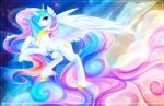 2016 absurd_res crown cutie_mark equine feathered_wings feathers female feral friendship_is_magic fur hair hi_res horn jewelry koveliana long_hair mammal multicolored_hair my_little_pony necklace princess_celestia_(mlp) smile solo spread_wings white_fur winged_unicorn wings  Rating: Safe Score: 15 User: Egekilde Date: March 15, 2016