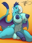 2016 anthro areola balls big_breasts blue_nipples blue_penis breasts dickgirl dragon freckles_(artist) friendship_is_magic gradient_background holding_breast horn huge_breasts humanoid_penis intersex looking_at_viewer my_little_pony nipples open_mouth penis princess_ember_(mlp) red_eyes scalie simple_background solo vein wings  Rating: Explicit Score: 45 User: ultragamer89 Date: May 03, 2016