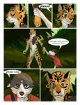 animal_genitalia anthro balls canine clothing comic crying detailed_background dog duo edesk english_text feline forest fur hi_res husky jaguar male mammal melee_weapon nude polearm puppy_eyes sheath sisco_(artist) spear tears text tree weapon  Rating: Explicit Score: 11 User: Queen_Tyr'ahnee Date: April 07, 2016