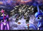 cannon crown equine female foxi-5 friendship_is_magic galaxy group hair horn laser machine mammal mecha my_little_pony princess_celestia_(mlp) princess_luna_(mlp) purple_hair ranged_weapon star twilight_sparkle_(mlp) weapon winged_unicorn wings  Rating: Safe Score: 5 User: DSR1337 Date: March 26, 2014