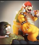 anal anal_penetration anthro anus backsack balls barefoot bear big_butt bowser butt claws clothed clothing cum cum_in_ass cum_inside cum_on_penis cum_on_tongue cum_string dragon erection eyes_closed fur group group_sex hair half-dressed hand_on_butt handjob hat headgear hi_res horn interspecies king koopa lizard looking_back looking_down lying male male/male mammal mario_bros nintendo nude on_back open_mouth orgasm penetration penis reptile royalty scalie sex sharp_claws sharp_teeth shell shirt short_hair smile spikes teeth thick_penis threesome tongue tongue_out vein veiny_penis video_games virus.exe  Rating: Explicit Score: 26 User: Tuck_In_Those_Glutes Date: March 29, 2015""
