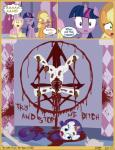 applejack_(mlp) blood death earth_pony equine female fluttershy_(mlp) friendship_is_magic fur gore grotesque_death hair horn horse j5a4 mammal multicolored_hair my_little_pony pegasus pony purple_fur purple_hair rarity_(mlp) tears twilight_sparkle_(mlp) two_tone_hair unicorn wings  Rating: Explicit Score: -27 User: Princess_Cadance_R34 Date: November 16, 2014
