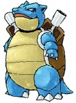 ambiguous_gender blastoise blue_skin low_res nintendo pokémon shell simple_background solo spring_bane video_games white_background
