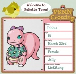 animal_crossing anthro blue_eyes bow clothing duo english_text female hoshiichan lickitung nintendo pidgey pokémon smile solo_focus text video_games   Rating: Safe  Score: 1  User: Deatron  Date: November 10, 2013