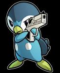 alpha_channel angry blitzdrachin blue_body blue_eyes gun hi_res holding_object holding_weapon nintendo outline piplup pokémon pokémon_(species) ranged_weapon reaction_image simple_background transparent_background video_games weaponRating: SafeScore: 28User: blitzdrachinDate: January 20, 2018