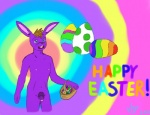 2013 balls easter egg english_text holidays lagomorph male mammal nipples nude open_mouth penis pubes rabbit solo syr text   Rating: Explicit  Score: -3  User: Ninosi  Date: March 30, 2013