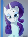 2012 blue_eyes blush cute equine female feral friendship_is_magic hair hi_res horn looking_at_viewer mammal my_little_pony purple_hair rarity_(mlp) skyline19 smile solo unicorn  Rating: Safe Score: 7 User: Robinebra Date: July 23, 2013