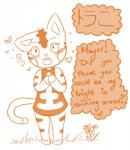 <3 animal_crossing anthro blush cat english_text feline female japanese_text lacgl mammal monochrome nintendo tabby_(animal_crossing) text translated video_games   Rating: Safe  Score: 2  User: Juni221  Date: March 07, 2014