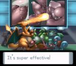 charizard close-up female fireball forced foursome group group_sex ivysaur licking long_tongue male male/female mario_bros nintendo oral penetration penis penis_lick pokémon precum public sex size_difference slimefur squirtle tight_fit tongue tongue_out tonguejob vaginal vaginal_penetration video_games yoshi