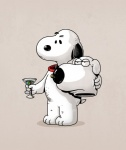 alcohol alex_solis beverage brian_griffin canine cocktail costume dog family_guy food mammal olive snoopy  Rating: Safe Score: 3 User: slyroon Date: November 25, 2015