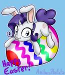 2015 :3 anibaruthecat blue_background blue_eyes cub cute cutie_mark diamond easter equine female feral friendship_is_magic hair holidays horn hybrid lagomorph looking_at_viewer lying mammal my_little_pony on_front purple_hair rabbit rarity_(mlp) simple_background solo unicorn young  Rating: Safe Score: 6 User: Robinebra Date: March 21, 2015