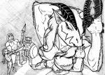 barbarian black_sclera breasts claws demon dungeons_&_dragons dwarf elf elpandamangrande female fur glabrezu human humanoid ink male mammal melee_weapon pincers polearm shield sketch solo_focus spear sword traditional_media_(artwork) weapon  Rating: Questionable Score: 1 User: WhatTheWhat Date: April 03, 2016