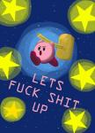angry bobalooshrimp english_text hammer holding_object holding_tool humor kirby kirby_(series) nintendo not_furry nude open_mouth pink_skin profanity running solo star text tools toony video_games waddling_headRating: SafeScore: 51User: tartcoreDate: September 01, 2016