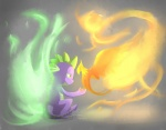 avian bird dragon feral fire friendship_is_magic male my_little_pony peewee_(mlp) phoenix scalie spike_(mlp) stupidyou3   Rating: Safe  Score: 16  User: gfjkbdgfbg459yu4  Date: August 23, 2012