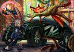 2016 absurd_res anthro benjamin_clawhauser buckteeth building canine car cheetah city clothing disney feline female flat_chested fox fur green_eyes grey_fur group hi_res jowybean judy_hopps lagomorph long_ears male mammal mouse nick_wilde orange_fur outside police_uniform rabbit rodent size_difference street teeth uniform unknown_character vehicle window zootopia  Rating: Safe Score: 19 User: ConsciousDonkey Date: April 26, 2016