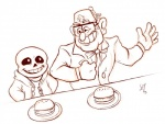 animated_skeleton bone bow_tie crossover disney eyewear food glasses gravity_falls human male mammal monochrome sans_(undertale) sean_hicks skeleton stanley_pines undead undertale video_games  Rating: Safe Score: 6 User: Nuji Date: April 24, 2016