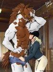 andalusian anthro chris_sawyer equine female horse human human_on_anthro interspecies male mammal nipple_lick nipple_stimulation racehorse size_difference straight strap   Rating: Questionable  Score: 25  User: xes  Date: May 24, 2012