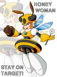 """arthropod bee blue_eyes blush female flower honey_woman insect looking_at_viewer machine mechanical mega_man_(series) plant robot solo wings  Rating: Safe Score: 0 User: Juni221 Date: July 04, 2015"""""""