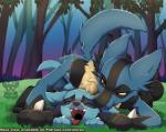2017 all_fours amber_eyes ambiguous_gender ambiguous_penetration bite blue_fur cub doggystyle duo ear_biting eyes_closed feral forest from_behind_(disambiguation) from_behind_position front_view fur grass half-closed_eyes happy happy_sex looking_pleasured lucario lying male male/ambiguous nintendo open_mouth patreon penetration pokémon riolu sex tree video_games xnirox youngRating: ExplicitScore: 36User: slyroonDate: June 19, 2017