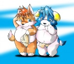 anthro canine chibineco clothing dog duo female fox fundoshi mammal overweight underwear  Rating: Questionable Score: 2 User: slyroon Date: February 18, 2011