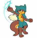 action_pose anthro clothing cute_fangs fist flat_colors front_view magic male mammal mustelid open_mouth otter pointing shorts signature solo wakfu whiteleo  Rating: Safe Score: 2 User: Circeus Date: February 09, 2016