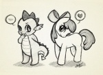 <3 apple_bloom_(mlp) blush christinies cub dragon duo equine female feral friendship_is_magic horse male mammal monochrome my_little_pony pony scalie spike_(mlp) young  Rating: Safe Score: 8 User: Kholchev Date: February 13, 2013
