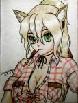2013 aj alternate_species applejack_(mlp) blonde_hair breasts bust_portrait cleavage clothed clothing ear_piercing female freckles friendship_is_magic green_eyes hair hat human humanized kevin_s_rollins mammal my_little_pony piercing ponytail smile solo traditional_media_(artwork)  Rating: Safe Score: 4 User: hakufan1984 Date: September 23, 2015