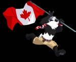 anthro bear black_nose canada canadian_flag clothed clothing flag half-dressed hat male mammal panda solo super-tuler topless   Rating: Safe  Score: 11  User: Pink-Tricycle  Date: September 21, 2011