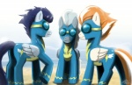 2011 ambiguous_gender blue_hair clothing dark_blue_hair equine eyewear feral firestreak_(mlp) friendship_is_magic goggles grey_body grey_hair group hair john_joseco light_gray_hair male mammal my_little_pony orange_hair pegasus signature soarin_(mlp) white_body wings wonderbolts_(mlp)  Rating: Safe Score: 0 User: Kitsu~ Date: September 14, 2011""