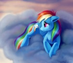 blue_fur cloud crying cutie_mark equine female feral friendship_is_magic fur hair horse magpie_(artist) multi-colored_hair my_little_pony pegasus pink_eyes pony rainbow_dash_(mlp) rainbow_hair sad solo tears wings   Rating: Safe  Score: 15  User: Anomynous  Date: June 19, 2011