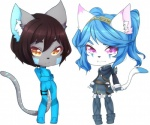 azzy cat chibi clothed clothing cosplay duo feline lucina lyra_belle mammal spyrix zero_suit  Rating: Safe Score: 0 User: AzureWotan Date: August 06, 2015