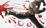 abs action_pose armor_king blood blood_splatter clothed clothing feline frost7 gloves half-dressed jaguar kick male mammal muscles pants red_eyes solo teeth tekken topless  Rating: Safe Score: 1 User: Test-Subject_217601 Date: December 29, 2011""