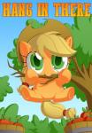 2015 apple applejack_(mlp) bucket chibi cowboy_hat cute english_text engrishman equine female friendship_is_magic fruit green_eyes hanging hat horse looking_at_viewer mammal my_little_pony pony solo text tree  Rating: Safe Score: 12 User: 2DUK Date: July 21, 2015
