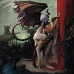 4_wings amazing aner angel blonde_hair blue_eyes breasts butt demon dragon duo_focus embrace feathers female female/female grey_skin group hair hi_res horn monster nipples nude purple_hair red_eyes scales wings   Rating: Questionable  Score: 32  User: lilicalover  Date: May 22, 2014