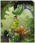 black_hair blue_eyes brown_eyes claws clothed clothing feet hair half-dressed horn human male male/male mammal muscles naga pants plussun saliva slime tongue tongue_out topless vore  Rating: Questionable Score: 1 User: h4x0r Date: July 20, 2015