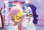 2012 arthropod blue_eyes blush butterfly duo equine eyes_closed eyeshadow eyewear female feral fluttershy_(mlp) friendship_is_magic glasses glowing hair hi_res horn horse insect levitation magic makeup mammal my_little_pony pin pink_hair pony purple_hair rarity_(mlp) scissors sparkles unicorn willis96 wings   Rating: Safe  Score: 7  User: 2DUK  Date: October 03, 2012