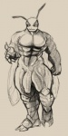 alien antennae anthro armor arthropod bee big_muscles daftpatriot flaccid humanoid_penis insect looking_away male mostly_nude muscular partially_retracted_foreskin penis uncut walking wings  Rating: Explicit Score: 9 User: Circeus Date: January 20, 2016