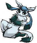 ambiguous_gender eeveelution glaceon kyounoikenie nintendo plain_background pokémon solo video_games white_background   Rating: Safe  Score: 1  User: robyn_chaos  Date: September 20, 2010
