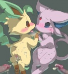 after_sex anus blush butt censored condom cum cum_in_pussy cum_inside cum_on_body cum_string disembodied_penis duo_focus eeveelution espeon female feral group human humanoid_penis interspecies konzaburou leafeon male male/female mammal messy nintendo penis plain_background pokémon poképhilia pussy saliva tears tongue tongue_out video_games wearing_condom  Rating: Explicit Score: 9 User: Raria Date: August 25, 2014""