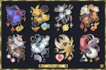altaria ambiguous_gender avian badge beak bird claws english_text feathers feral fur group kann1kura_(kanna) looking_at_viewer lunatone magneton makuhita mammal milotic nintendo nosepass open_mouth pokémon pokémon_(species) primate red_eyes reptile scalie slaking sloth smile smoke solrock teeth text toe_claws tongue torkoal video_games wings