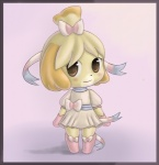 animal_crossing blush canine cosplay dog dress eeveelution female feral isabelle_(animal_crossing) mammal nintendo pokémon raggedy sylveon video_games   Rating: Safe  Score: 2  User: Juni221  Date: July 16, 2013