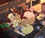 <3 absurd_res age_difference anthro bed bedroom black_nose blonde_hair blush bra bracelet breasts brown_fur brown_hair butt canine clothing creeper crossover crying cub cute detailed_background dildo duo eyewear female female/female five_nights_at_freddy's fox fur glasses gothbunnyboy grey_eyes hair hi_res high-angle_view inside jewelry jigglypuff ketzio11 kirby kirby_(series) legwear linge loli lotus_(character) lying mammal minecraft missionary_position navel nintendo nipples nude on_back on_bed open_mouth panties pants penetration pillow pokémon rodent sex sex_toy side_boob socks squirrel story story_in_description strapon tears teeth tongue torso_grab underwear video_games white_fur window young  Rating: Explicit Score: 77 User: pressfarttocontinue Date: January 11, 2016
