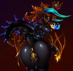 absurd_res anus breasts butt cum cum_in_ass cum_in_pussy cum_inside dragon female hi_res horn human hybrid looking_at_viewer looking_back mammal mario_bros nintendo nipples piercing presenting princess_peach pussy raised_tail rear_view signhereplease simple_background solo standing video_games  Rating: Explicit Score: 21 User: WholeLottaLovin Date: May 04, 2016