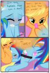 anus applejack_(mlp) blonde_hair blue_fur blush comic cowboy_hat cunnilingus cutie_mark dialogue drooling duo earth_pony edit english_text equine eyes_closed female female/female feral friendship_is_magic fur green_eyes hair hat hisexpliciteditor horse lying mammal multicolored_hair my_little_pony nude on_front oral orgasm pegasus pony pussy pussy_juice pyruvate rainbow_dash_(mlp) rainbow_hair saliva sex sex_toy text vaginal vibrator wings  Rating: Explicit Score: 9 User: DatPhotoshopDoeee! Date: November 15, 2014